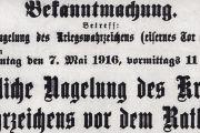 Die Kriegsnagelung 1916 in Landshut